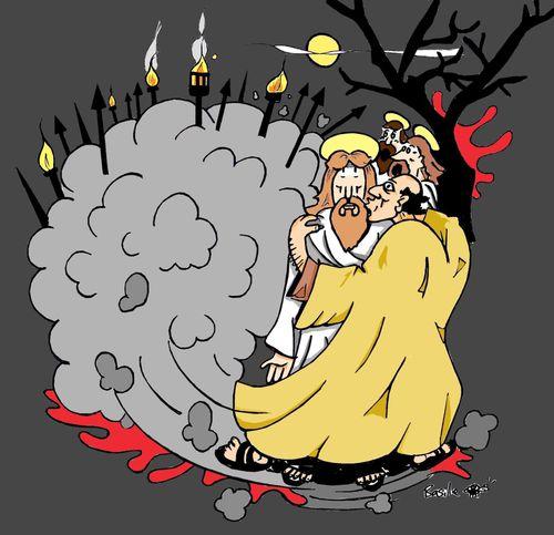 vendredi saint 22 avril ''Le baiser qui livre le Fils de l'